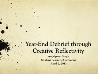 Year-End Debrief through Creative Reflectivity