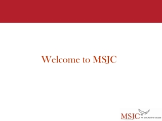 Welcome to MSJC
