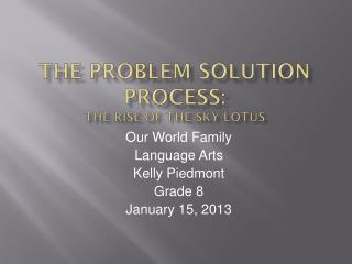 The Problem Solution  Process: The Rise of the sky-lotus