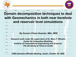 Domain decomposition techniques to deal with Geomechanics in both near borehole and reservoir level simulations