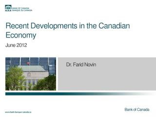 Recent Developments in the Canadian Economy