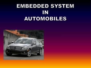 Embedded Systems  in the Automotive Industry