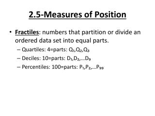 2.5-Measures of Position