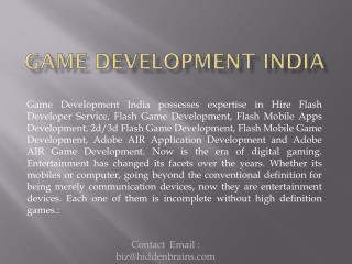 Game Development India