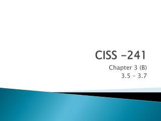 CISS -241