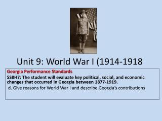 Unit 9: World War I (1914-1918