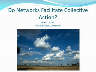 Do Networks Facilitate Collective Action? John T. Scholz Florida State University