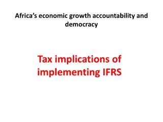 Africa's economic growth accountability and democracy