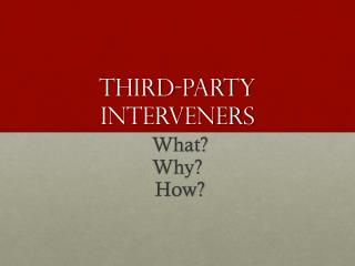 Third-Party Interveners