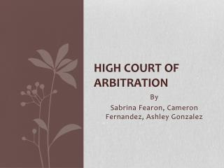 High Court Of Arbitration