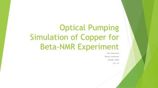 Optical Pumping  Simulation of Copper for  Beta-NMR Experiment