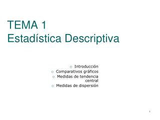TEMA 1 Estadística Descriptiva