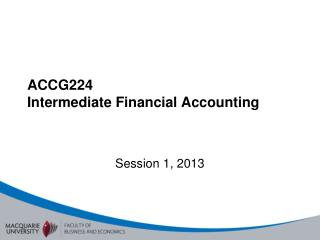 ACCG224  Intermediate Financial Accounting