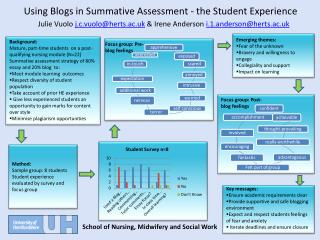 Using Blogs in Summative Assessment - the Student Experience