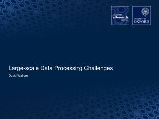 Large-scale Data Processing Challenges