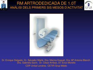 RM ARTRODEDICADA DE 1.0T ANÀLISI DELS PRIMERS SIS MESOS D'ACTIVITAT