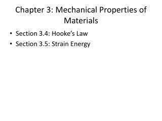 Chapter 3: Mechanical Properties of Materials