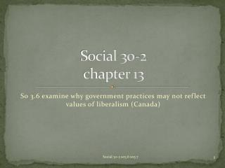 Social 30-2 chapter 13