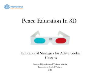 Peace Education In 3D