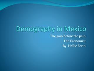 Demography in Mexico