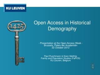 Open Access in Historical Demography