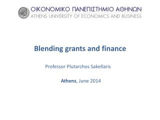 Blending grants and finance
