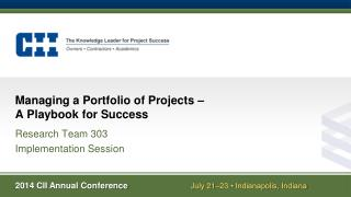Managing a Portfolio of Projects –  A Playbook for Success