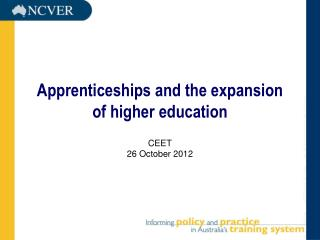 Apprenticeships and the expansion  of higher education