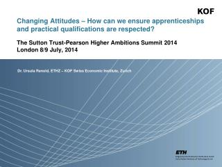 Changing Attitudes – How can we ensure apprenticeships and practical qualifications are respected?
