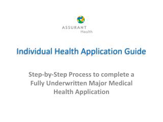Individual Health Application Guide