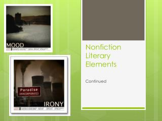 Nonfiction Literary Elements