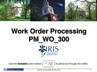 Work Order Processing PM_WO_300