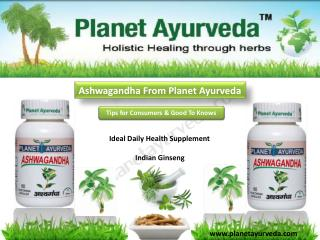 Ashwagandha From Planet Ayurveda