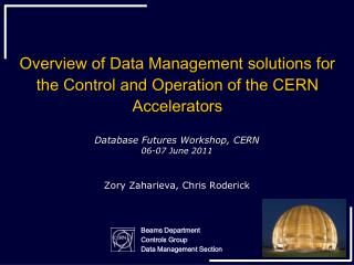 Overview of Data Management solutions for the Control and Operation of the CERN Accelerators