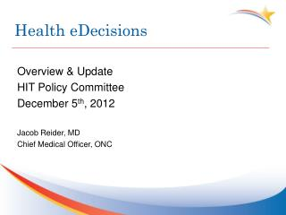 Health eDecisions