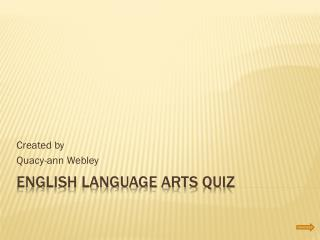 English Language Arts Quiz