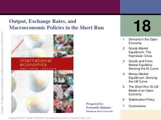 Output, Exchange Rates, and Macroeconomic Policies in the Short Run