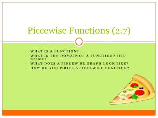 Piecewise Functions (2.7)