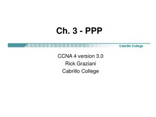 Ch. 3 - PPP