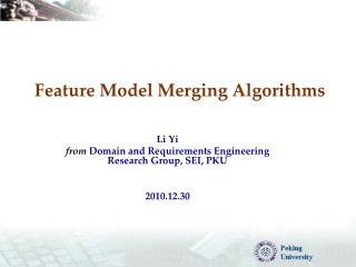 Feature Model Merging Algorithms