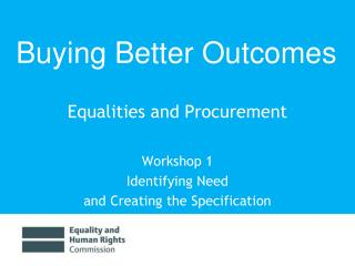 Equalities and Procurement