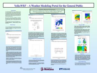 VolksWRF – A Weather Modeling Portal for the General Public