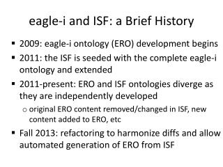 eagle- i  and ISF: a Brief History