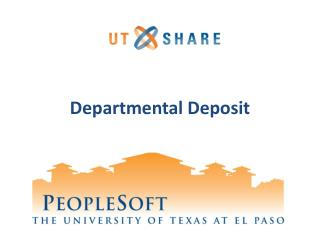 Departmental Deposit