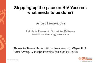 Stepping up the pace on HIV Vaccine: what needs to be  done?