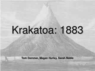 Krakatoa: 1883