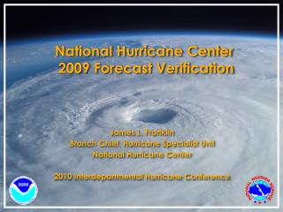 National Hurricane Center  2009 Forecast Verification