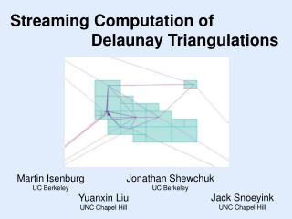 Streaming Computation of 		     Delaunay Triangulations
