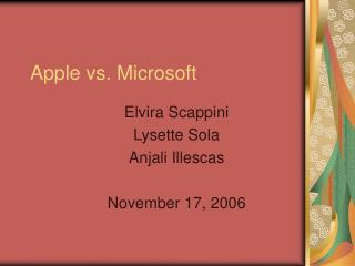 Apple vs. Microsoft