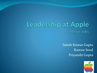Leadership at Apple Steve Jobs